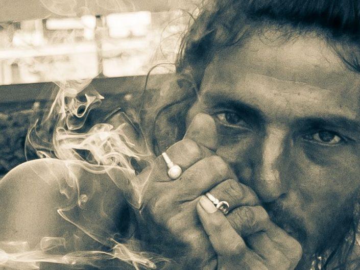 Smoking Sadhus